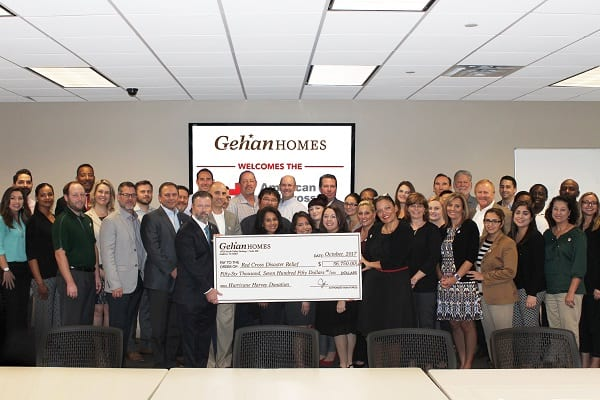 Gehan Homes Partners with the Red Cross for Hurricane Harvey